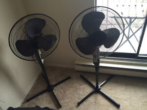 2 Black Stand Up Fans $15 each