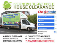Bournemouth and Poole House Clearance - Rubbish Removal - Man and Van - Waste Disposal Service