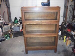 Two Oak 3 section Barrister,s Stacking Bookcases