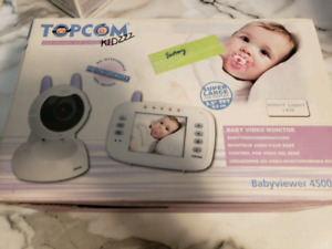 Video baby monitor European model need battery and adapter.