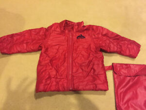Old Navy Boys RED Pack able jacket with pouch - 18/24 mth  -EUC