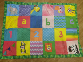 Baby play mat and various toys/rattles