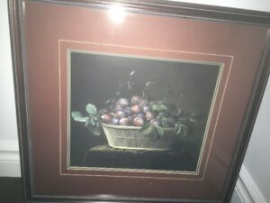 For Sale: Large Burgundy Dining Room Picture