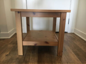 Wooden Side Table - Like New