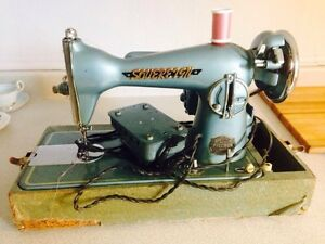 Vintage Sovereign Japanese Precision Sewing Machine with Case