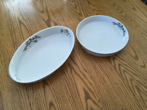 Woodhill oval and round dish