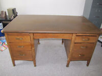 vintage desk and luxury lift chair
