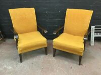 A pair of Parker Knoll vintage armchairs