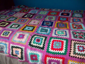 Knitted queen size blanket