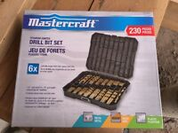 Brand new MasterCraft 230 pieces drill bit set