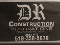 Drywall, Flooring, Trim work, Painting,