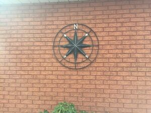3 ft Round Compass decor piece