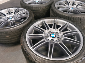 "*Refurbished* Genuine 19"" BMW MV4 225M Staggered Alloy Wheels & Tyres"
