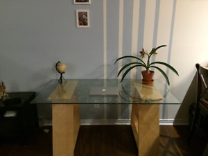 Beautiful glass desk to sell