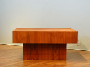 Table de salon en teck / Coffee table in teak (Midcentury)