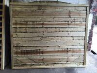 Tanalised Timber/ Wooden Wayneylap Garden Fence Panels ~ Heavy Duty
