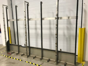 Used Bromer Aluminum Glass Racks for Standard Vans