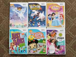 Wii Games - younger kid lot