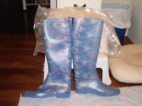 Printed Riding boots