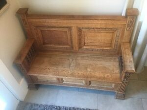 Antique Oak Bench - Reduced price