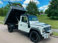 NOW SOLD!! LAND ROVER 130 DEFENDER TIPPER NEW ALLOY TIPPER BODY +VAT SOLD!