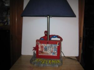 """spider-man 1 of a kind desk or table lamp. 23"""" high. firm."""