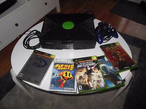 Console X-Box, manette, 5 jeux