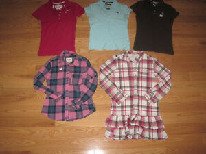 Girls Abercrombie & Aeropostale Shirts - Sizes S/M
