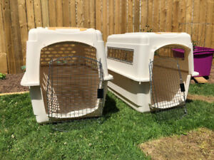 Dog Crates Used Once for Travel x2