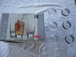 glass tumblers - set of 6