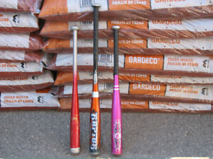 3 bâtons de baseball (alu)