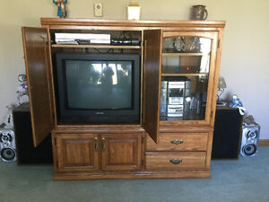 Solid Wood Entertainment Unit or use as  a Display Unit