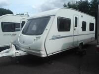 Sterling Europa 495 2008 4 Berth Fixed Bed Caravan With Full Awning