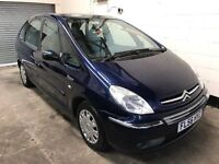 Citreon xsara Picasso desire 1.6 1 Owners, Stamped History, low mileage, Air Con, 3 Month Warranty