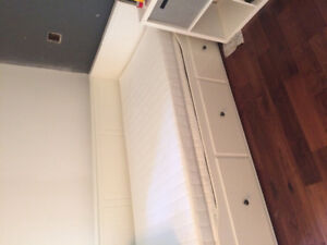 IKEA hemnes daybed with mattresses. twin