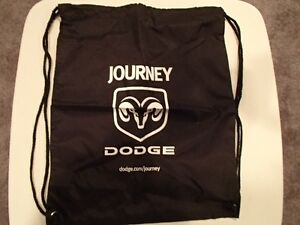 Black Tote Bag Drawstring Backpack Sack with Dodge Ram Emblem an