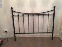 Black double metal bed frame