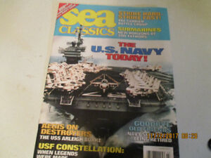 war montly  and  sea classic magazines