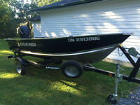 "2011 Legend 14"" Widebody w Mercury 20HP Manual Start 4-Stroke"