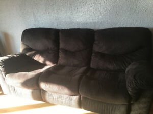 Brown Corduroy  Comfy Couch!