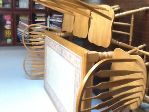 Ceramic dining table with 6 chairs - price reduced