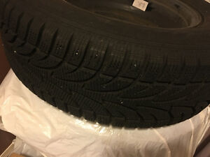 Set 4 winter tires on steel rims