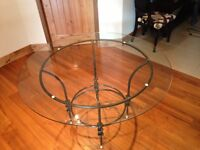 Beautiful Italian tempered glass dining  table