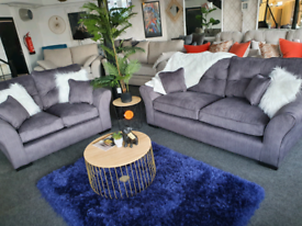 NEW Louis Dark Grey 3 + 2 Seater Sofa DELIVERY AVAILABLE
