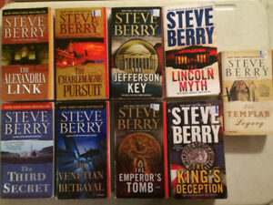 9 early Steve Berry Cotton Malone books (will seperate)