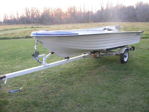 1997 Nordic 14ft boat Northtrail trailer 9.9 Yamaha possibly Kingston Kingston Area image 3