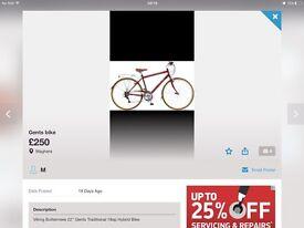 Gents biking hybrid bike