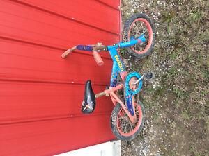 Spider man tykes bike