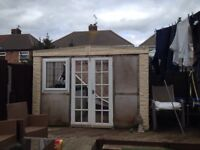 Concrete out house building or garage