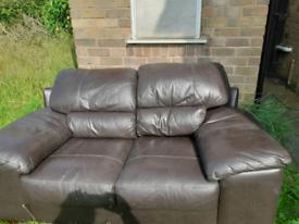 Italian leather 2 seater
